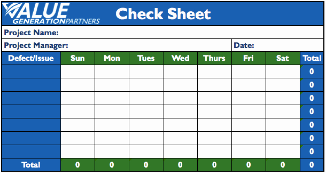 Check Out Sheet Template Inspirational Generating Value by Using the Seven Basic Quality tools