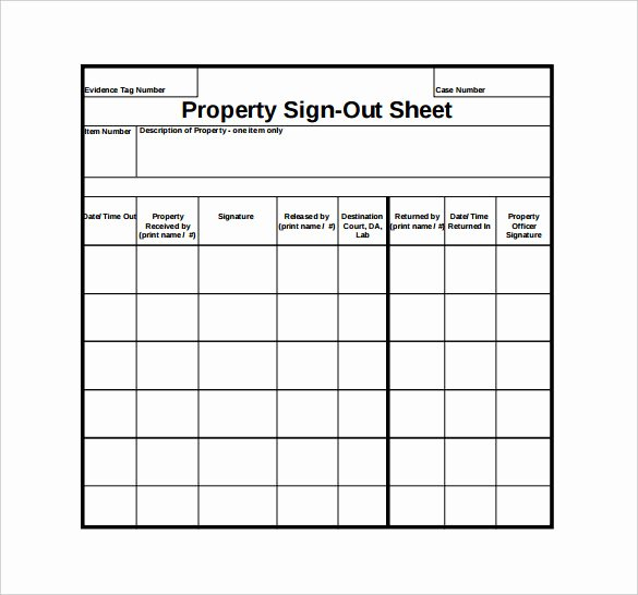 Check Out Sheet Template Inspirational Sign Out Sheet