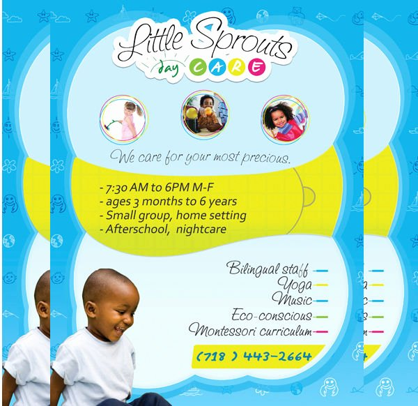 Child Care Flyer Template Awesome 21 Beautiful Day Care Flyer Templates Psd Word Ai