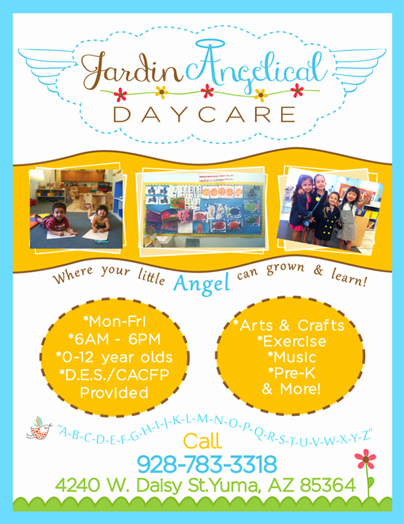 Child Care Flyer Template Awesome 25 Beautiful Free & Paid Templates for Daycare Flyers