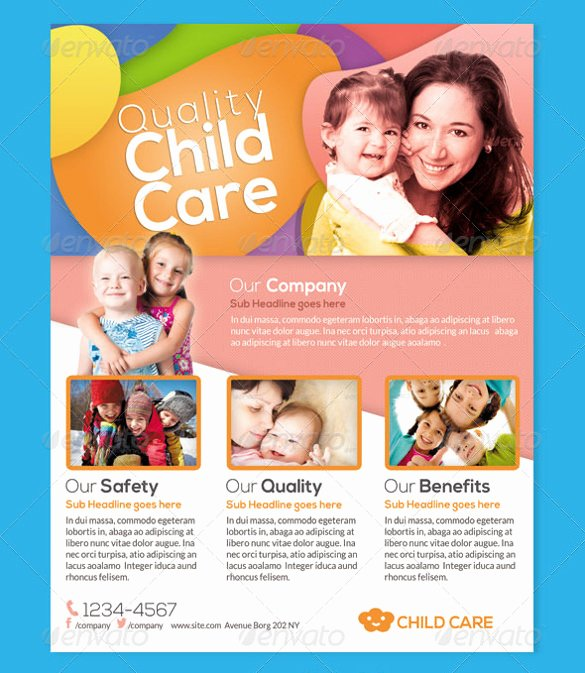 Child Care Flyer Template Beautiful Daycare Flyer Template – 24 Free Psd Ai Vector Eps