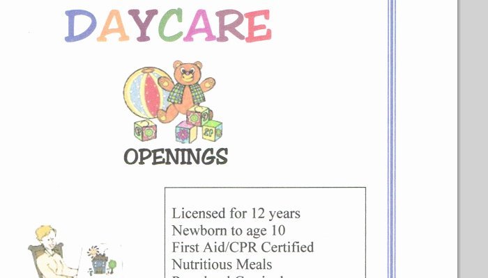 Child Care Flyer Template Best Of 5 Daycare Flyers Templates