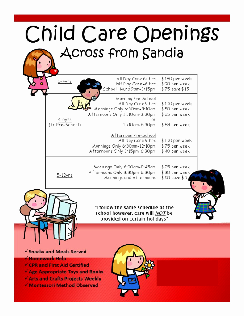 Child Care Flyer Template Best Of Easy Marketing Ideas for Flyers – I Own Day Care
