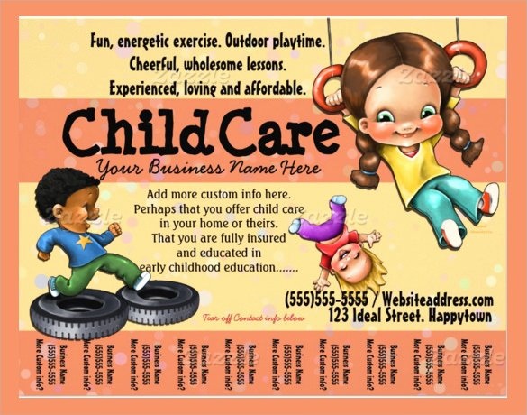 Child Care Flyer Template Elegant 33 Daycare Flyer Templates Word Psd Ai Eps Vector