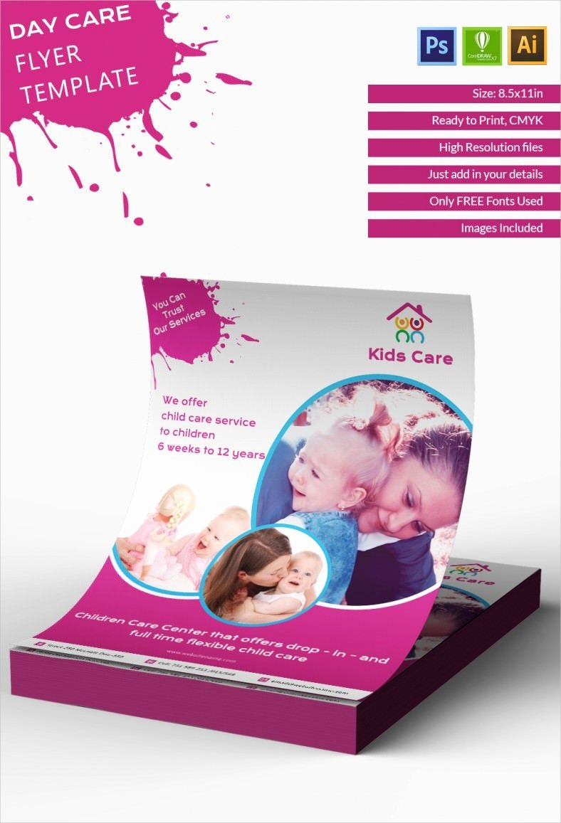 Child Care Flyer Template Fresh Daycare Flyer Template 27 Free Psd Ai Vector Eps