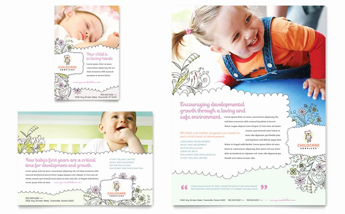 Child Care Flyer Template Lovely Babysitting & Daycare Flyer & Ad Template Design