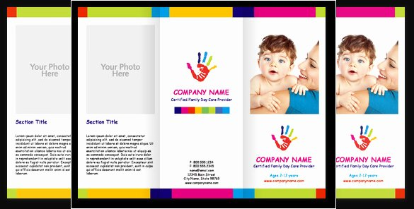 Child Care Flyer Template Lovely Child Care Center Brochures