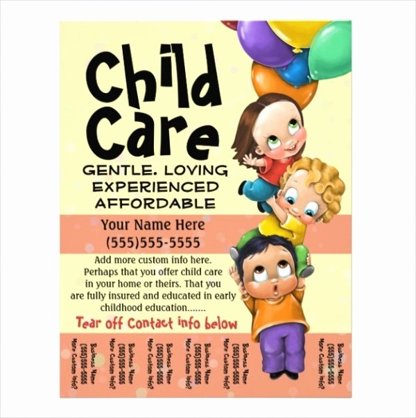 Child Care Flyer Template New 31 Elegant Daycare Flyers Word Psd Ai Eps Vector