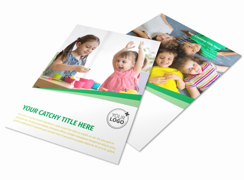 Child Care Flyer Template New Child Daycare Flyer Template