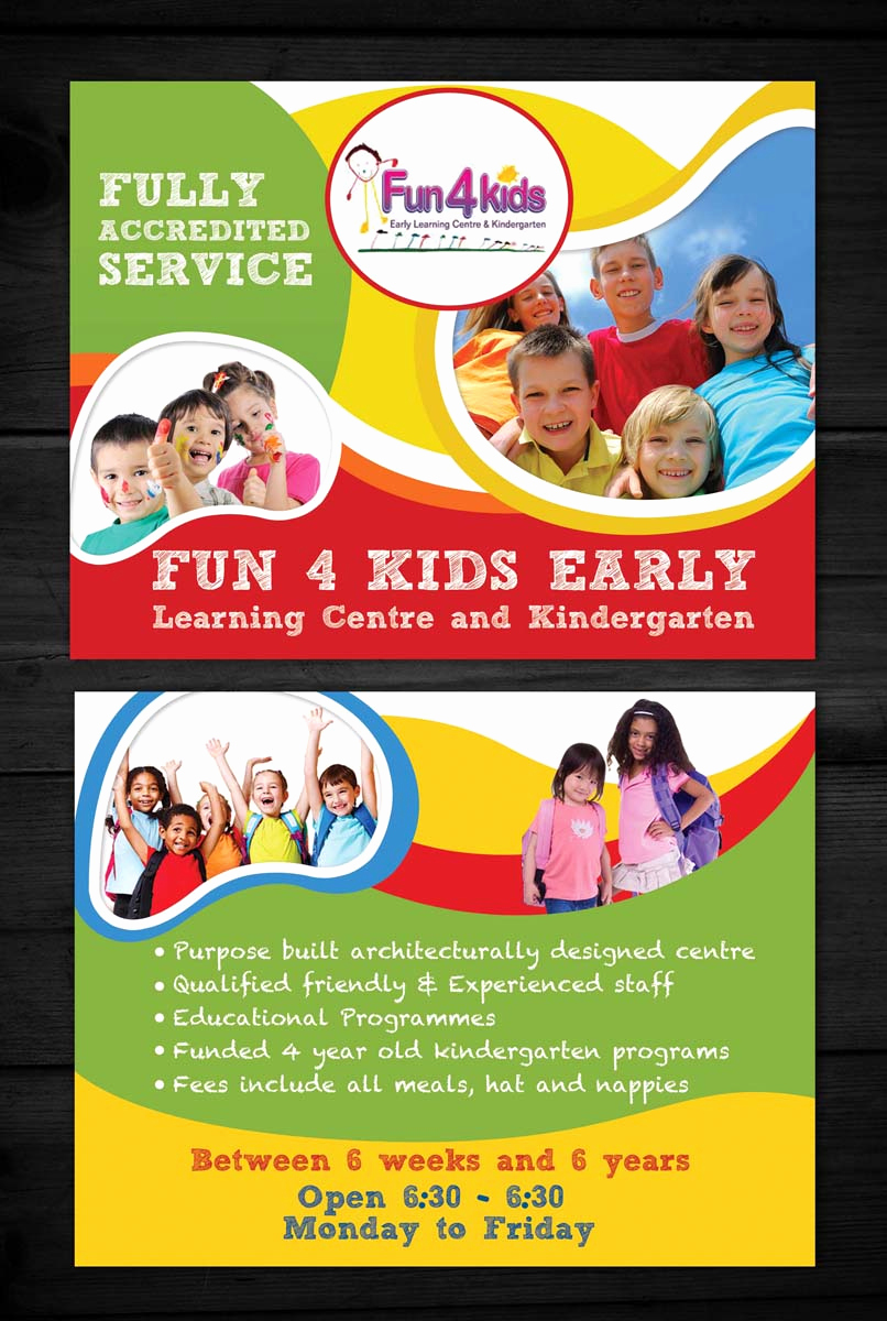 Child Care Flyer Template Unique 25 Beautiful Free & Paid Templates for Daycare Flyers