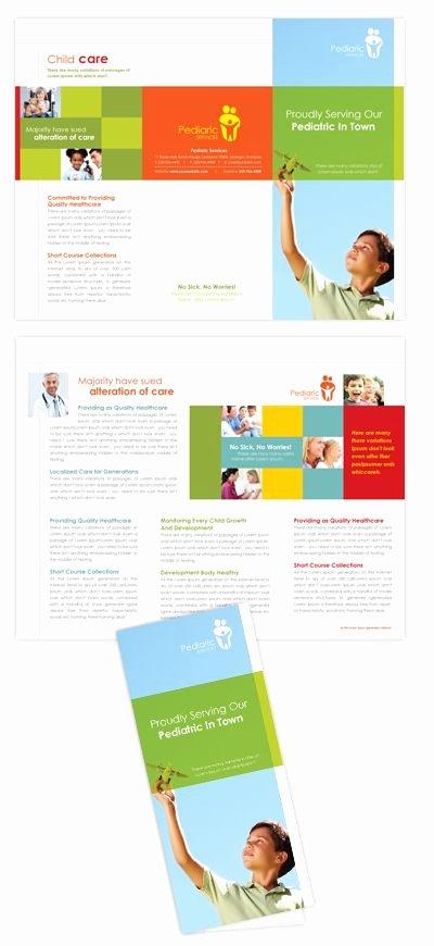 Child Care Flyer Template Unique Pediatrician & Child Care Tri Fold Brochure Template