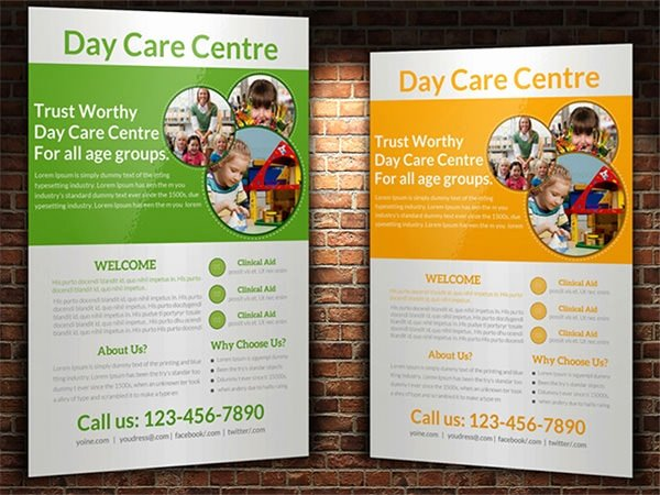 Child Care Flyer Templates Beautiful Frre 17 Day Care Flyers In Word Psd Ai Eps Vector