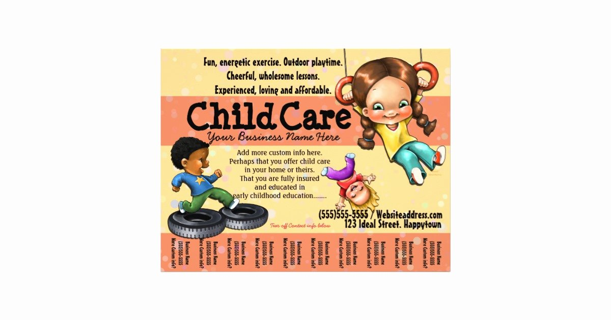 Child Care Flyer Templates Elegant Child Care Day Care Customisable Template Flyer