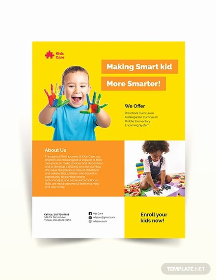 Child Care Flyer Templates Fresh Free Kids Day Care Flyer Template Download 675 Flyers In