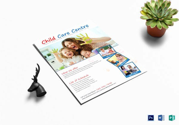 Child Care Flyer Templates Inspirational 30 Daycare Flyer Templates