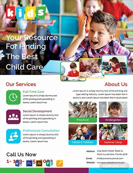 Child Care Flyer Templates Inspirational Free Child Care Flyer Template Word Psd