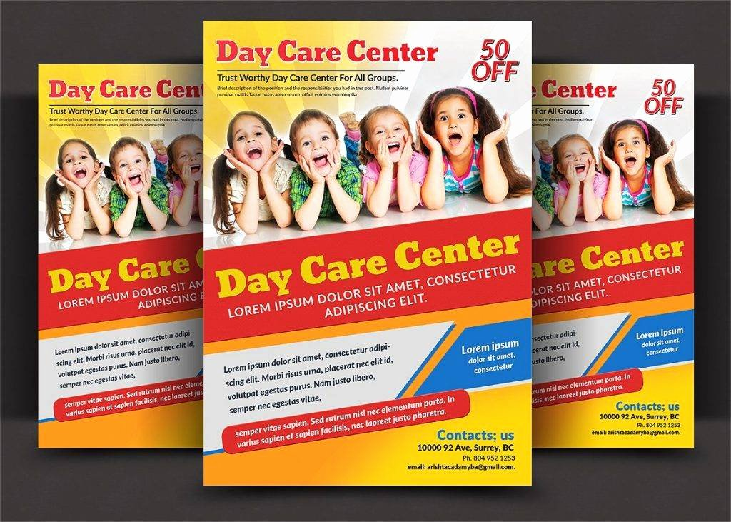 Child Care Flyer Templates Luxury 16 Child Care Flyer Designs & Examples – Psd Ai Word