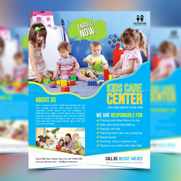 Child Care Flyer Templates Luxury 23 Day Care Flyer Templates Free & Premium Download
