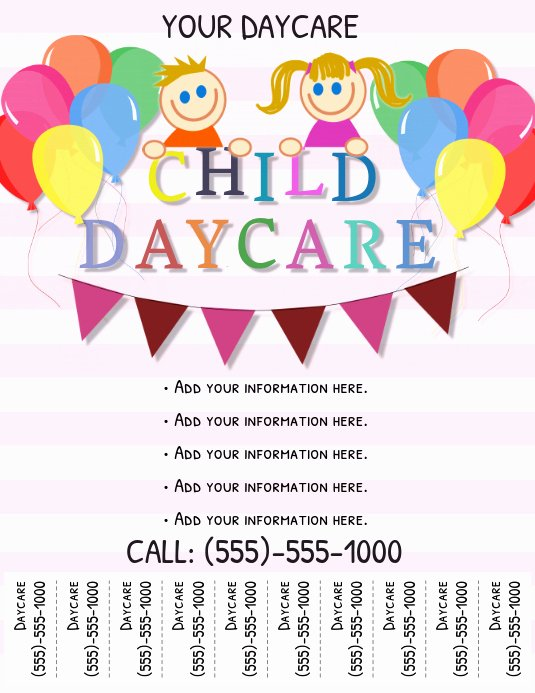 Child Care Flyer Templates Unique Daycare Flyer Template