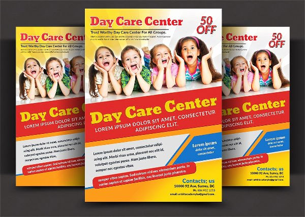 Child Care Flyers Templates Awesome 21 Beautiful Day Care Flyer Templates Psd Word Ai