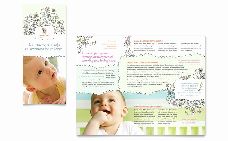 Child Care Flyers Templates Awesome Babysitting & Daycare Tri Fold Brochure Template Word