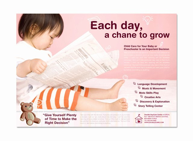 Child Care Flyers Templates Fresh Baby & Child Day Care Flyer Template Dlayouts Graphic