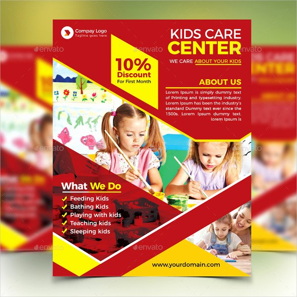 Child Care Flyers Templates New 23 Day Care Flyer Templates Free & Premium Download