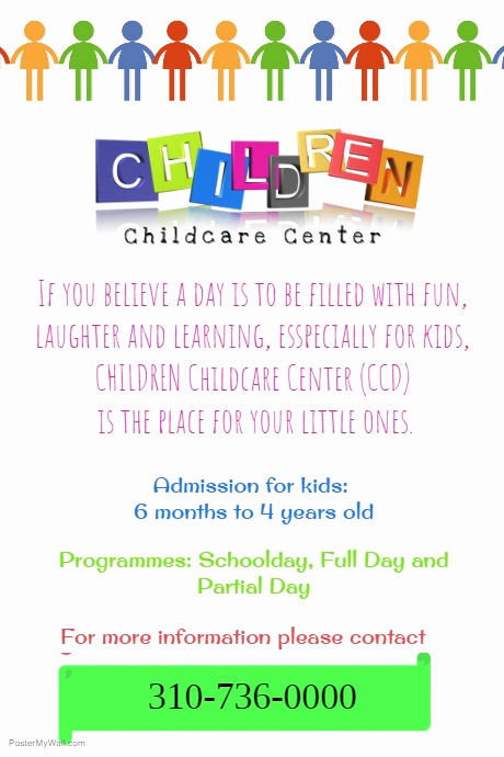 Child Care Flyers Templates New 25 Beautiful Free & Paid Templates for Daycare Flyers