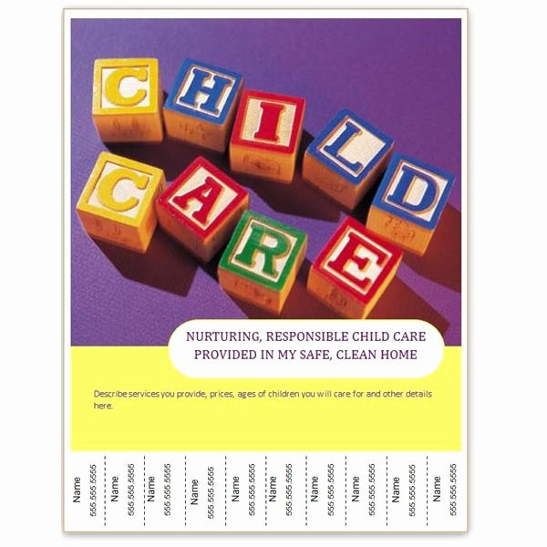 Child Care Flyers Templates New Find Free Flyer Templates for Word 10 Excellent Options