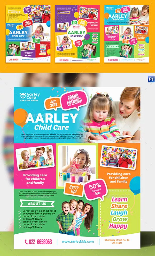 Child Care Flyers Templates New Kindergarten Flyer Templates Free & Premium Psd Ai