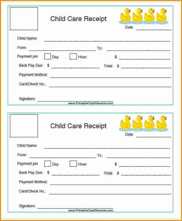 Child Care Invoice Template New 6 Child Care Payment Receipt