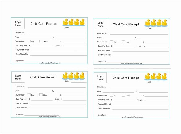 Child Care Invoice Template Unique Daycare Receipt Template – 12 Free Word Excel Pdf