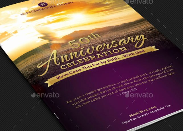 Church Anniversary Program Template Awesome Anniversary Archives