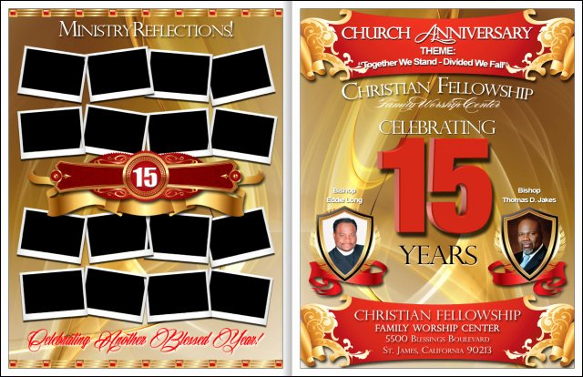 Church Anniversary Program Template Awesome Awesome Church Anniversary Program