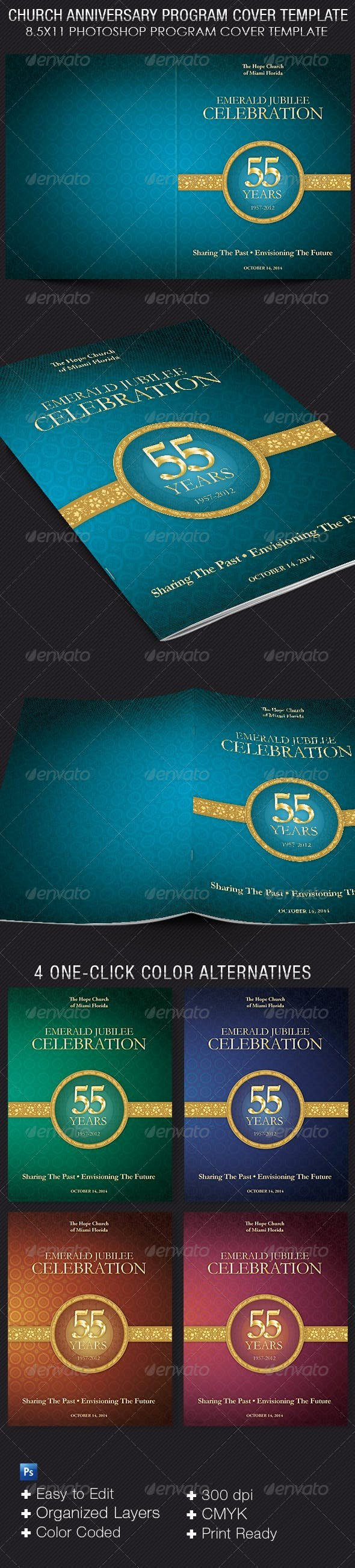 Church Anniversary Program Template Awesome Church Anniversary Program Cover Template by 4cgraphic
