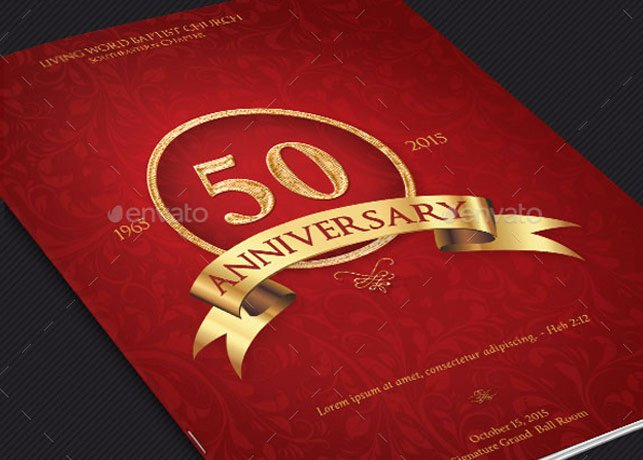Church Anniversary Program Template Awesome Church Anniversary Program Cover Template V2