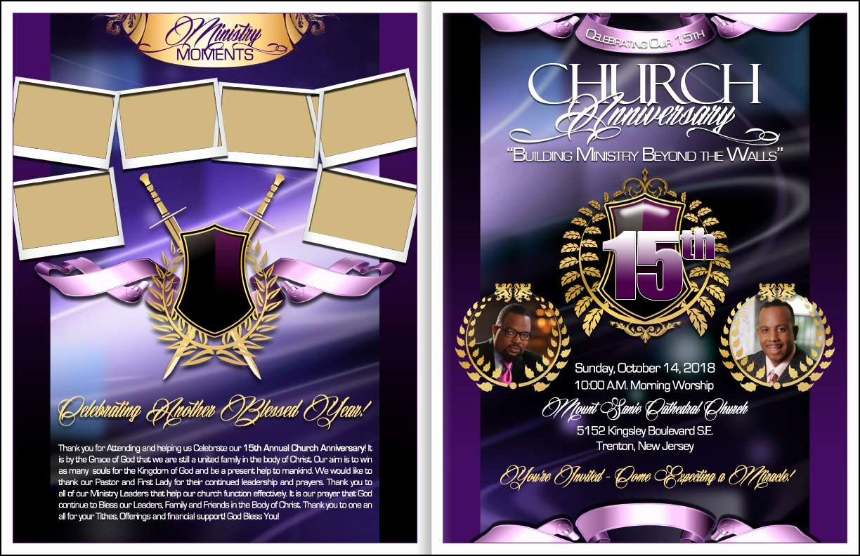 Church Anniversary Program Template Best Of Majesty Church Anniversary Program
