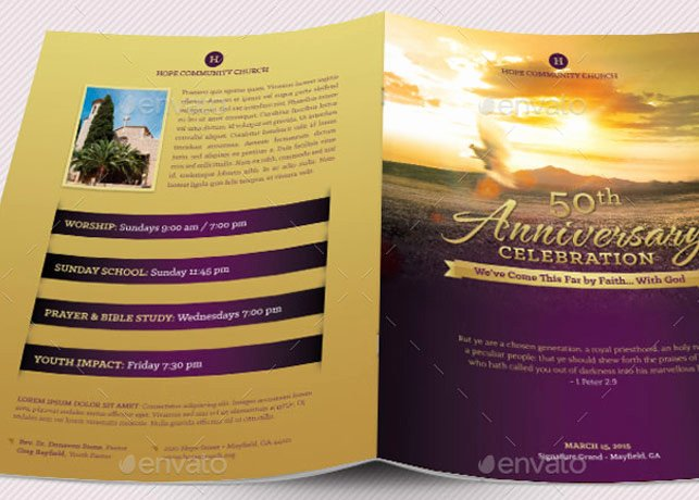 Church Anniversary Program Template Elegant Church Anniversary Program