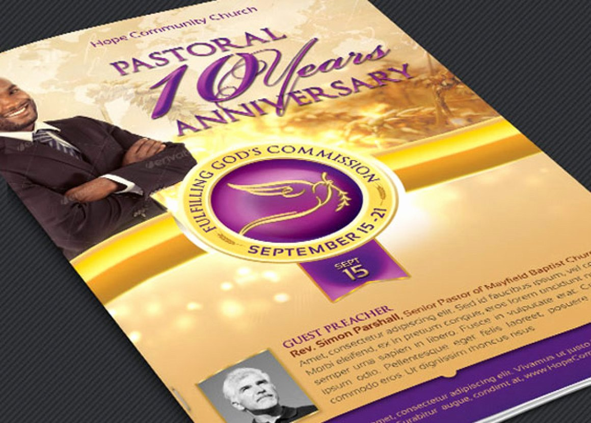 Church Anniversary Program Template Fresh 17 Best Pastor Anniversary Program Templates 2018