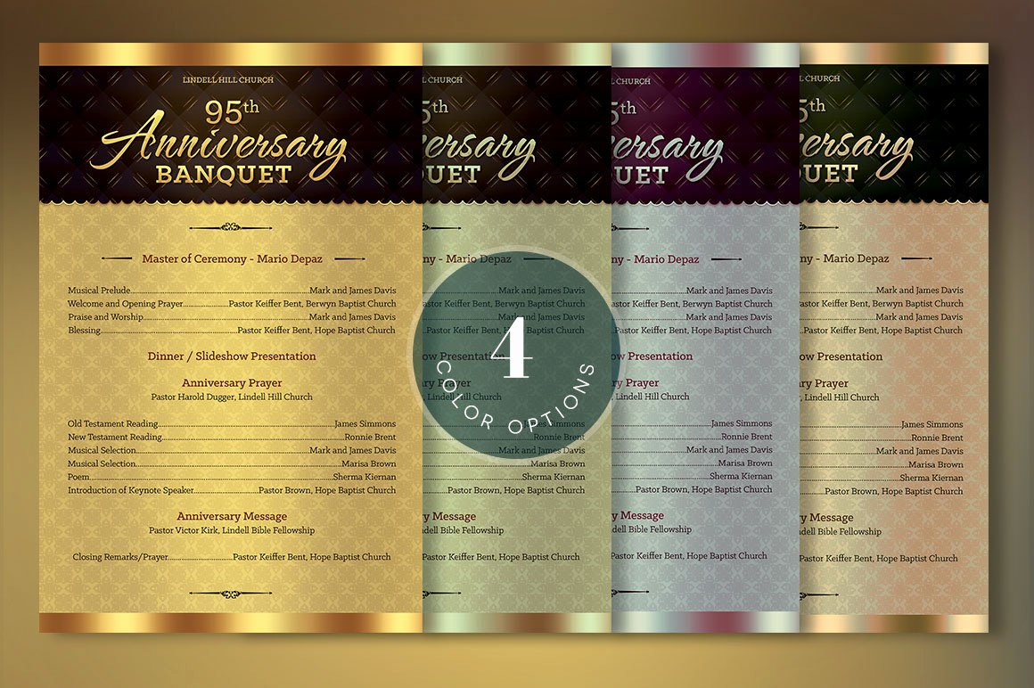Church Anniversary Program Template Fresh Church Anniversary E Sheet Program Template On Behance