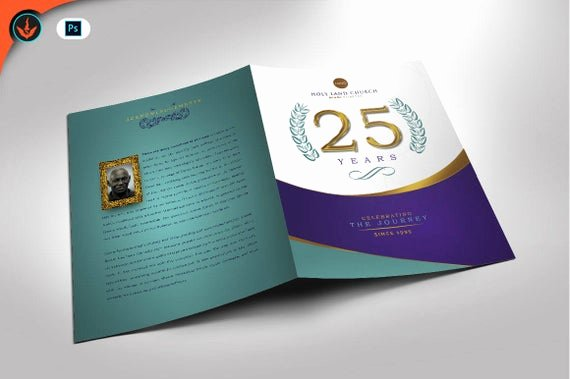 Church Anniversary Program Template Luxury Regal Church Anniversary Program Shop Template 4 Pages
