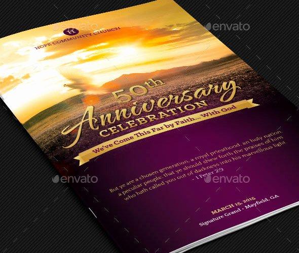 Church Anniversary Program Templates Free Awesome Church Anniversary Service Program Template