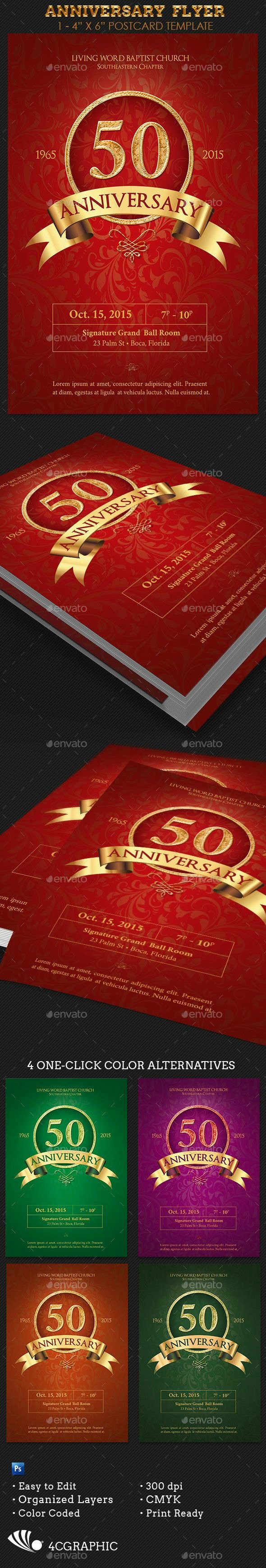 Church Anniversary Program Templates Free Beautiful Anniversary Flyer Template