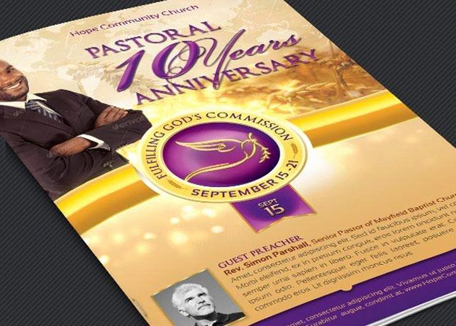 Church Anniversary Program Templates Free Beautiful Clergy Anniversary Service Program Template