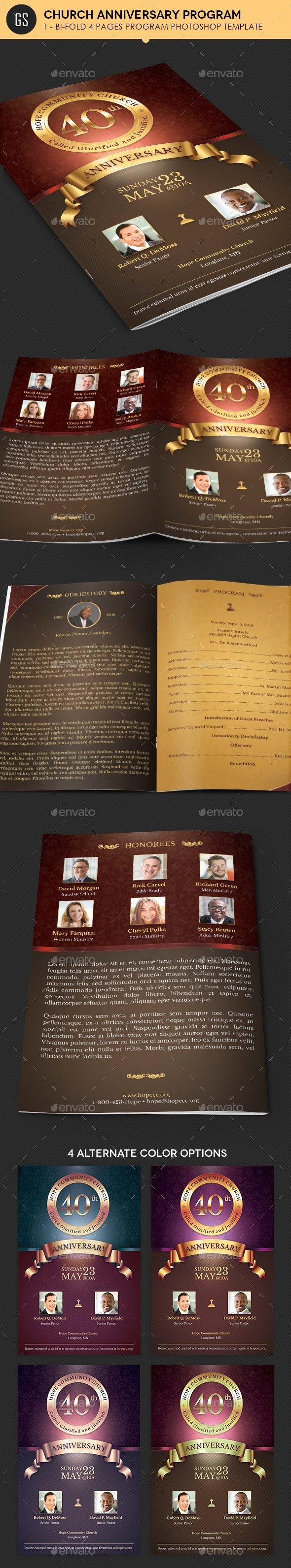 Church Anniversary Program Templates Free Best Of Best 107 Church Anniversary Print Templates Images On