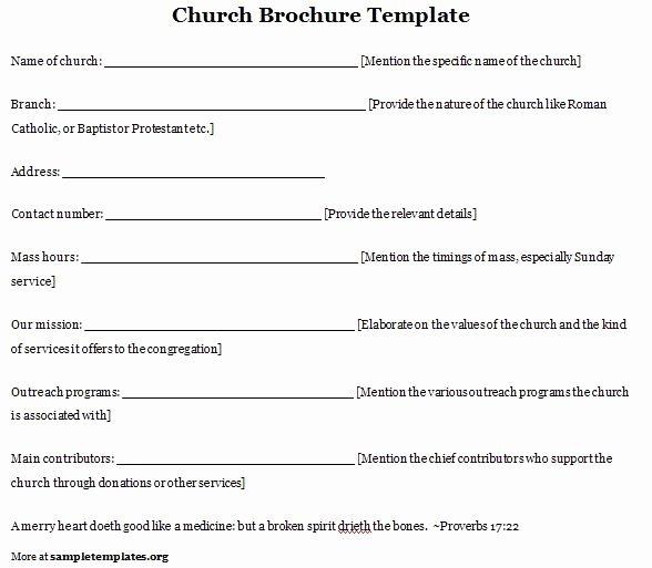 Church Anniversary Program Templates Free Best Of Church Program Template