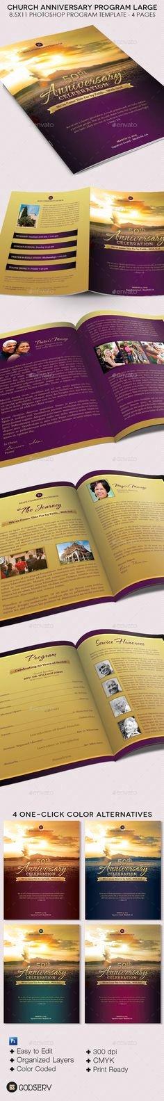 Church Anniversary Program Templates Free Elegant Free Printable Church Program Template
