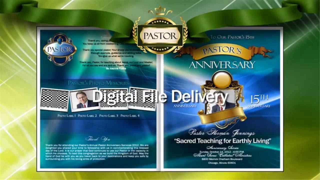 Church Anniversary Program Templates Free Elegant Pastor Anniversary Program