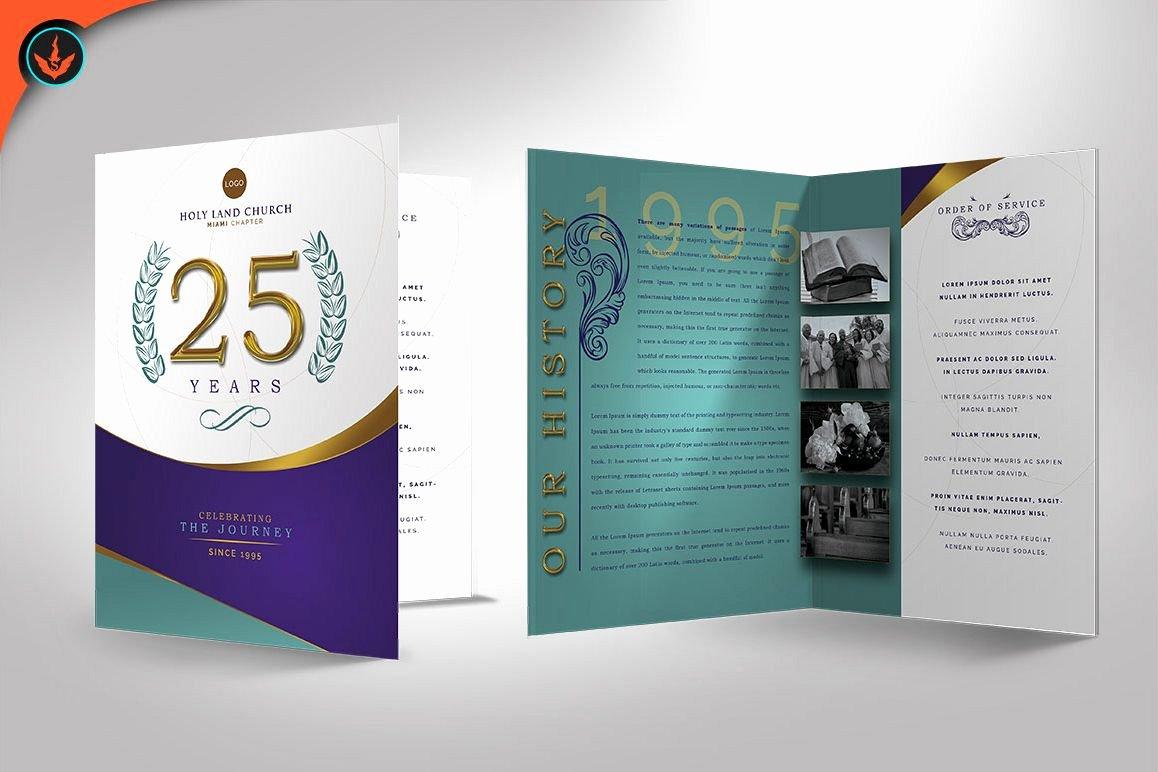 Church Anniversary Program Templates Free Elegant Regal Church Anniversary Program S