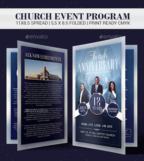 Church Anniversary Program Templates Free Fresh 30 Premium and Free Church Psd Templates for Religious